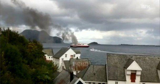 В Норвегии произошел пожар на пароме, есть жертвы