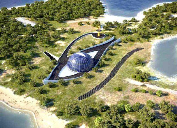 Наомі Кемпбелл збудувала собі на окремому острові будинок зі скла