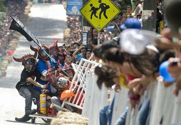 Шалені перегони на тарантасах провели в Колумбії