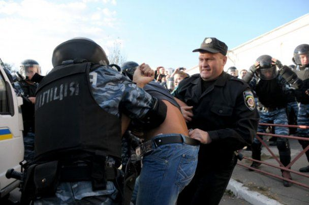 """Мітинг ВО """"Свободи"""" в Умані жорстоко розігнала міліція"""