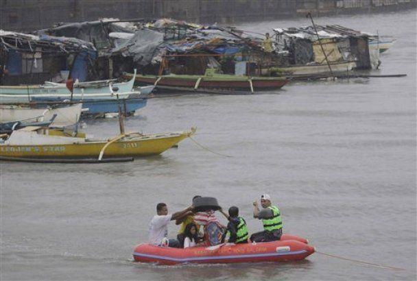 На Филиппины обрушился мощный тайфун Несат