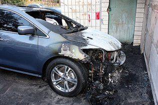 """На Київщині невідомі """"коктейлями Молотова"""" підпалюють автомобілі"""