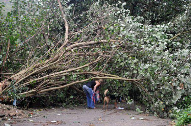 Мощный тайфун Несат приближается к Гонконгу