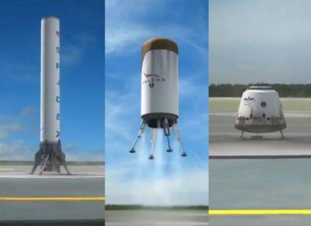Американська компанія будує першу в світі багаторазову космічну ракету (відео)