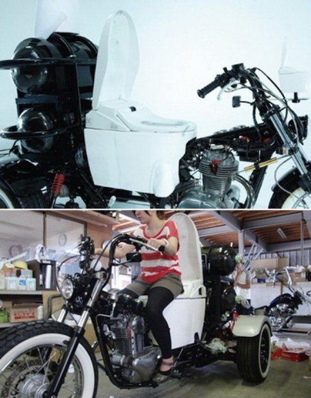 Японцы смастерили мотоцикл-унитаз с заправкой фекалиями (видео)