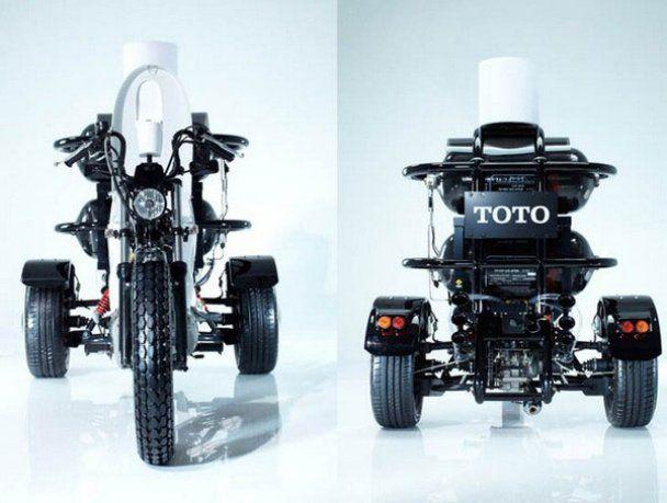 В Японии сконструировали мотоцикл-унитаз на фекалиях