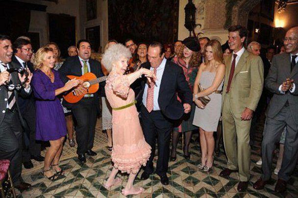 Свадьба самой богатой женщины Испании герцогини Альба