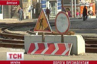 Донецк готовится к визиту Медведева: в городе кладут новый асфальт