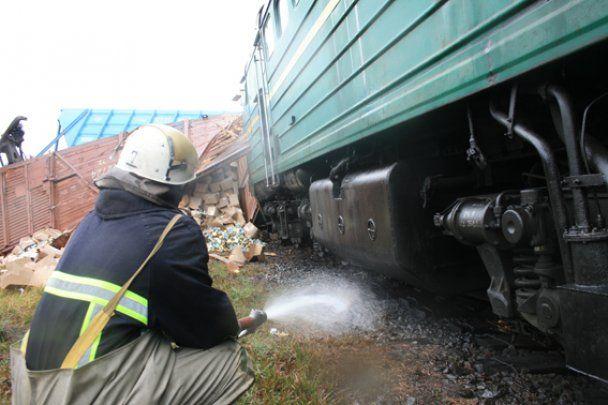 На Черкащині зійшов з рейок і перекинувся потяг