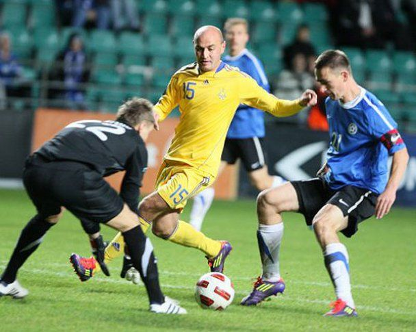 Товарищеский матч Эстония 0:2 Украина. Фотоотчет