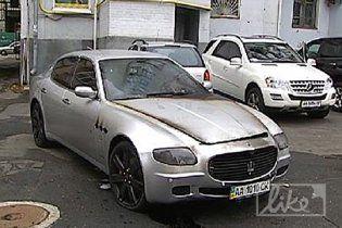 У Києві виявлено обгорілий Maserati Мілевського