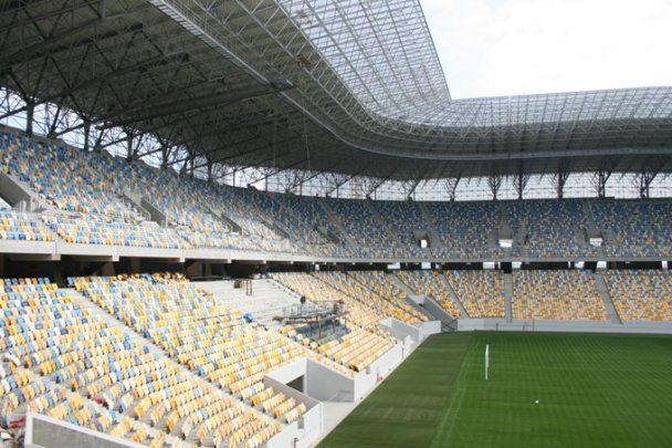 Стадіон до Євро-2012 у Львові готовий на 86%