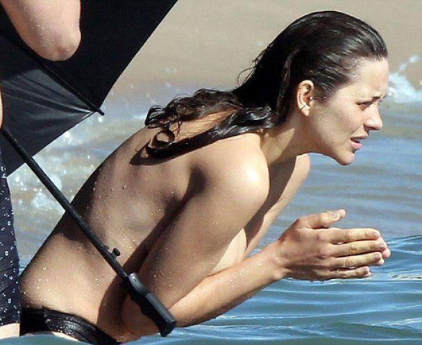 Марион Котийяр топлес мерзла два часа в воде