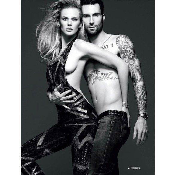 Лідер Maroon 5 з дівчиною оголилися для російського Vogue_1