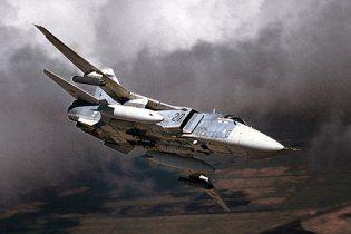 При посадке в России сгорел бомбардировщик Су-24