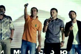 """Футболісти """"Шахтаря"""" заспівали українською мовою"""