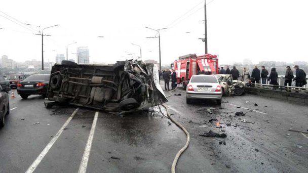 Ужасное ДТП в Днепропетровске устроила блондинка