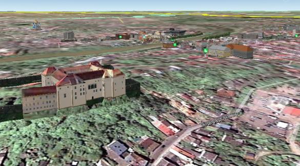 3D-мапа Ужгорода, Ужгородський замок