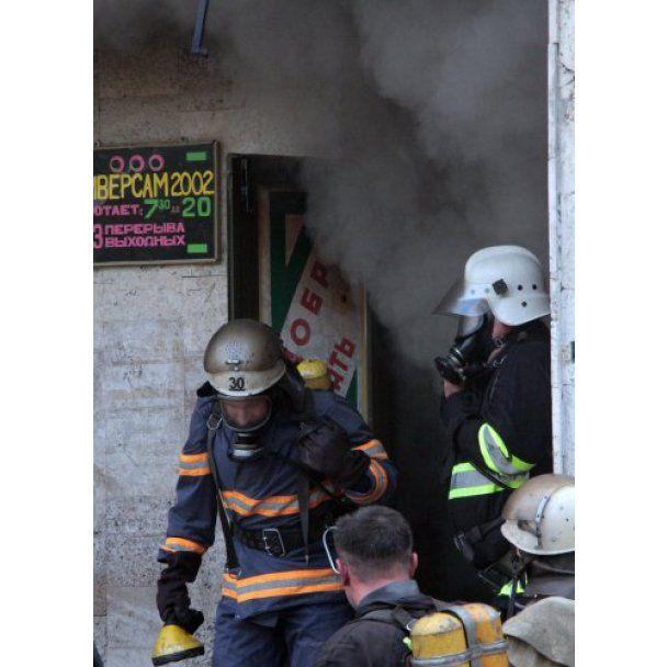 Пожежа в Євпаторії: палав торговий комплекс