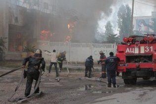 На Труханове дотла выгорела спортивная школа