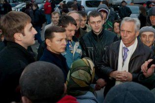 У Донецьку чорнобильці на чолі з Ляшком захопили Пенсійний фонд