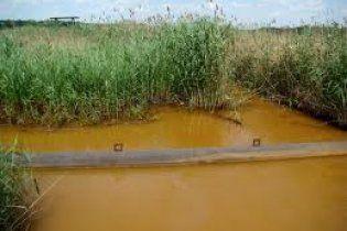 В Луганской области покраснела река, которая впадает в водохранилище