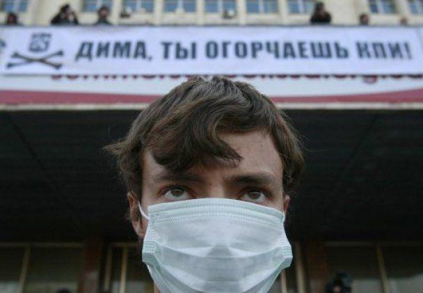 Тысячи студентов стали на защиту КПИ в Киеве