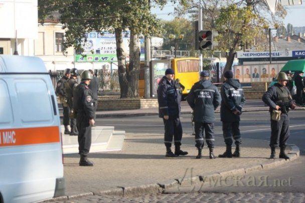 Милиция с автоматами и стрельба в центре Одессы