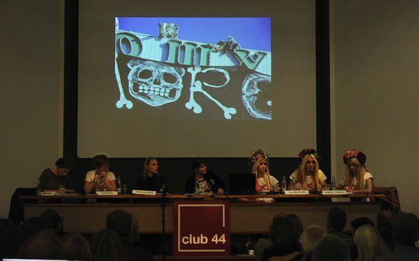 FEMEN провели мастер-класс своим последовательницам в Швейцарии