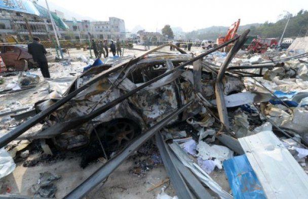 70 тонн вибухівки здетонували на АЗС у Китаї, є жертви