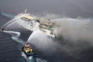 В Красном море затонул паром, который горел неделю назад