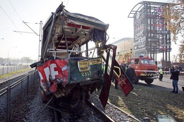 Большая трамвайная авария в Польше: пострадали десятки людей
