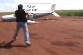 Бразильские полицейские протаранили самолет контрабандистов