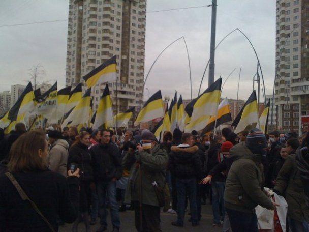 Націоналісти провели у Москві марш під імперськими прапорами