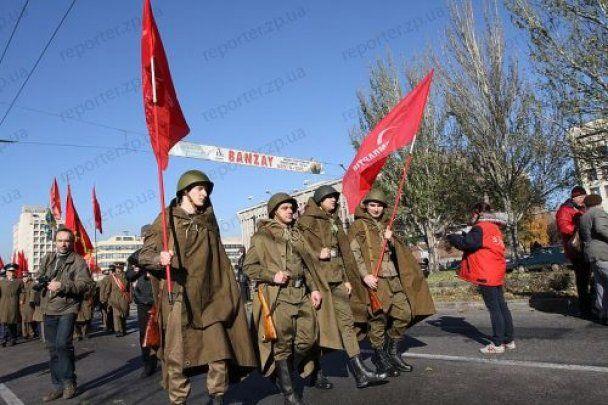 В Запорожье открыли памятник Сталину и побили журналиста