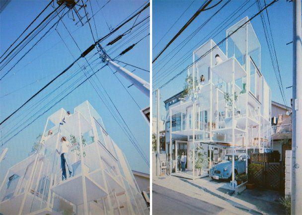 Японці зводять прозорі будинки без стін (відео)