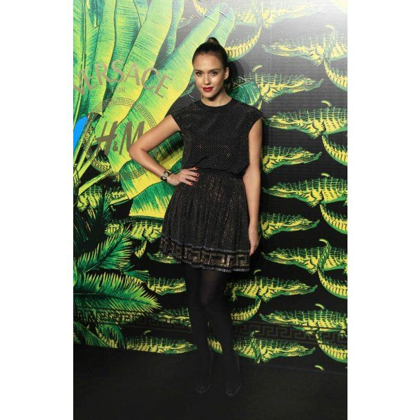 Голливудские звезды на показе Донателлы Версаче для H&M