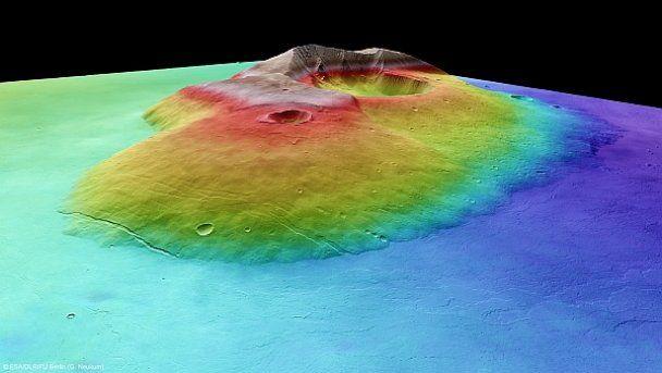 Опубліковано унікальні знімки найбільшого марсіанського вулкану
