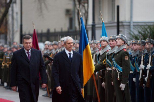 Офіційна зустріч Віктора Януковича і Бориса Тадіча