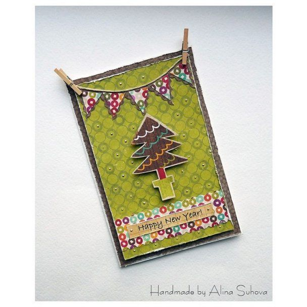 Хенд-мейд: новогодняя открытка своими руками