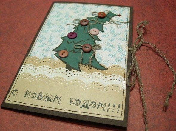 Новогоднее поздравление партнерам на открытке