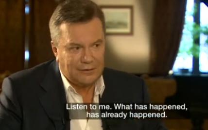 Янукович рассказал, за что он благодарен Путину