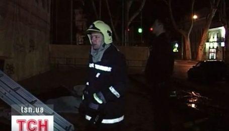 В центре Одессы горел дом