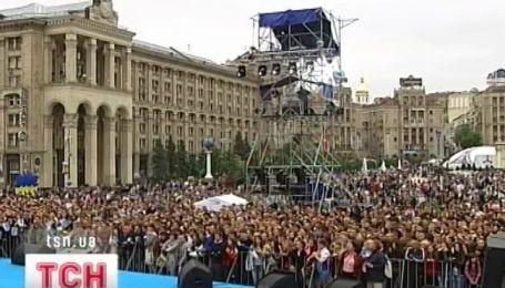 В центре Киева отмечают День Победы