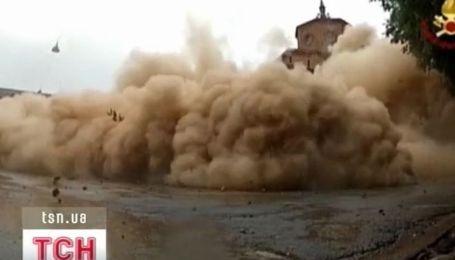 В Италии пожарные взорвали церковь