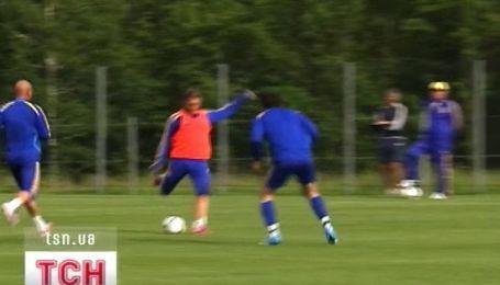 Сегодня прошла открытая тренировка футбольной сборной Украины