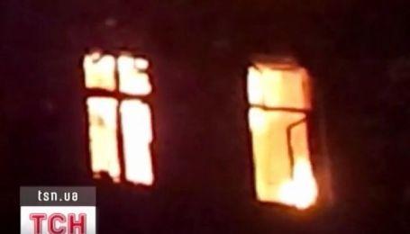 В центре Одессы горела трехэтажка