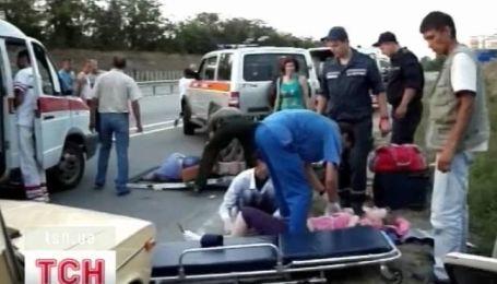 17 человек пострадали в аварии в Крыму