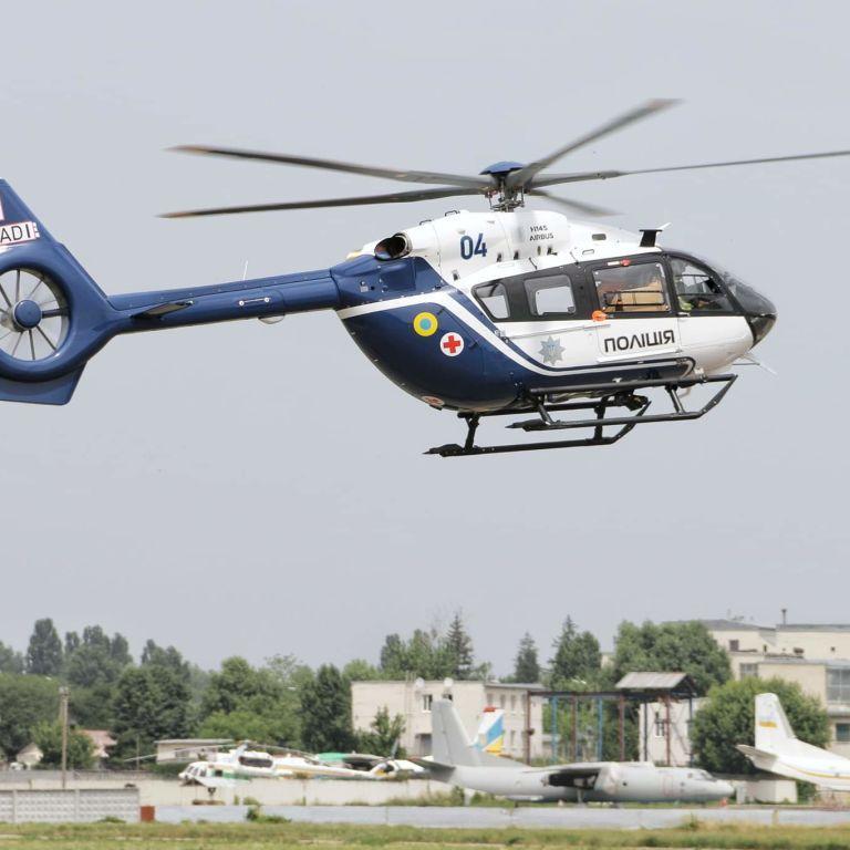 З Німеччини прибув новий гелікоптер Н-145 для українських поліцейських