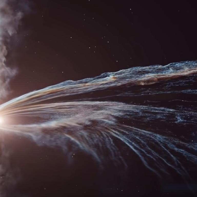 Ученые показали, как черная дыра разрывает звезду